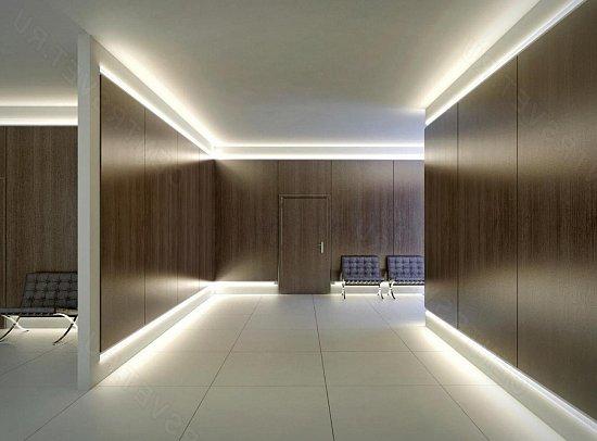 Пример подсветки по периметру потолка и пола